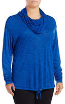 Calvin Klein Performance Plus Quick-Dry Space Dye Cowl Neck Hoodie