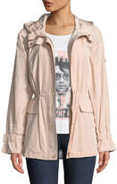 Iconic American Designer Cinched-Waist Anorak Jacket