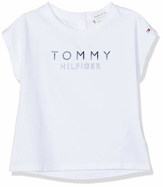 Tommy Hilfiger Baby Girls' Foil Print Tee S/s T-Shirt