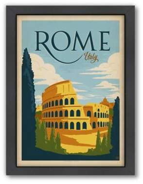 World Travel Rome Framed Wall Art by Anderson Design Group