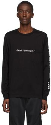 TAKAHIROMIYASHITA TheSoloist. Black Gothic Long Sleeve T-Shirt
