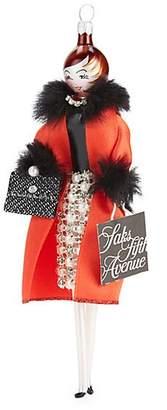 Saks Fifth Avenue De Carlini De Carlini Soffieria de Carlini x Lady Faux Fur-Trim Coat Saks Shopper Ornament