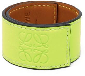 Loewe Paula's Ibiza - Anagram-debossed Leather Slap Bracelet - Yellow