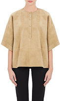 Givenchy WOMEN'S SUEDE HENLEY TUNIC-TAN SIZE 34 FR