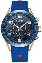 Curren 8167 Waterproof Men's Round Dial Quartz Wrist Watch With Silicone Band Sports Watch