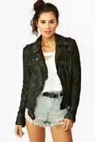 Nasty Gal Quilted Leather Biker Jacket