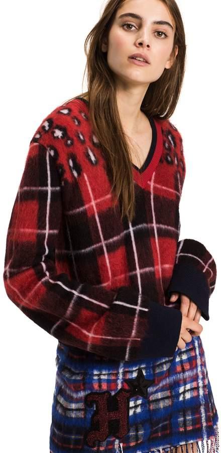 Tommy Hilfiger Mohair Blend Tartan Sweater