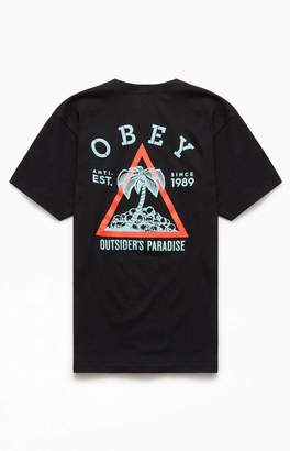Obey Black Outsider's Paradise T-Shirt