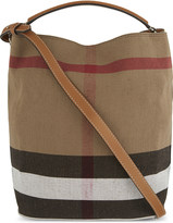 burberry wallets outlet k6xu  Burberry Ashby medium canvas bucket bag