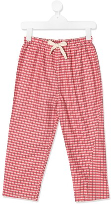 Caramel Chelsea checked trousers