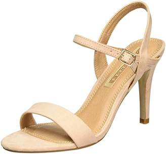 Buffalo David Bitton Shoes 314258 IMI SUEDE BHWMD A16, Women's Ankle Strap Sandals, Beige (Nude 01), (41 EU)