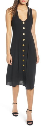 Rowa Button Front Dress
