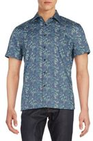 Perry Ellis Abstract Print Cotton Shirt
