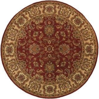 """StyleHaven Weslyn Hand-tufted Tradtional Bordered Wool Area Rug - 7'6"""" Round - 7'6"""" Round"""