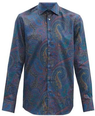 Etro Paisley-print Cotton-sateen Shirt - Blue Multi