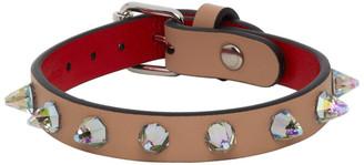 Christian Louboutin Beige Crystal Loubilink Bracelet