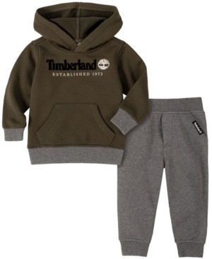 Timberland Toddler Boys Fleece Pullover Hoody with Fleece Pant Set, 2 Piece