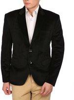 Wintage Men's Velvet Two Buttoned Notch Lapel Party Coat Blazer