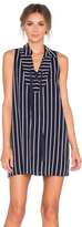 J.o.a. Lace Up Stripe Mini Dress