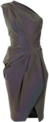 Maticevski Iridescent Draped Dress