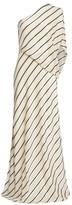 Halston Asymmetric Stripe Gown