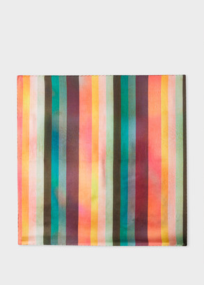 Paul Smith Men's Large 'Artist Stripe' Silk Pocket Square