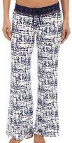 PJ Salvage Women's Tie-Dye Crochet Waist Pants Pajama Bottoms