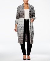 Style&Co. Style & Co. Plus Size Space-Dyed Duster Cardigan, Only at Macy's