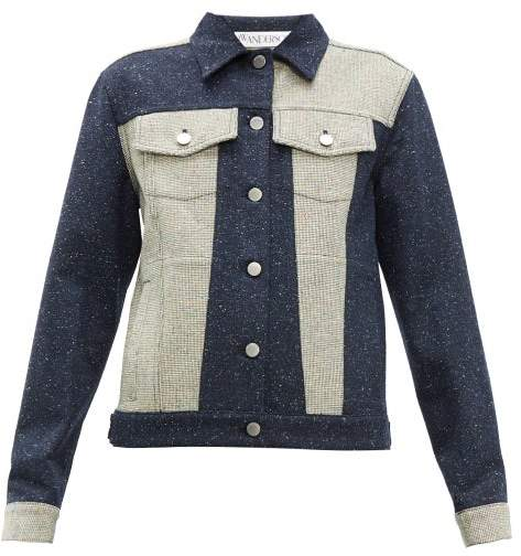 J.W.Anderson Patchwork Tweed Jacket - Womens - Navy White