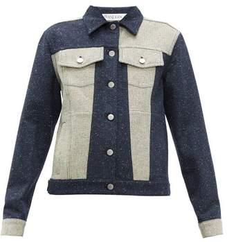 J.W.Anderson Patchwork Tweed Jacket - Womens - Navy White