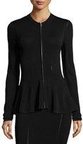 McQ by Alexander McQueen Ergonomic Zip-Front Flash Jacket, Black