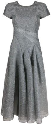 Emporio Armani Metallized Flared Midi Dress