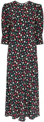 Rixo Jess floral print midi dress