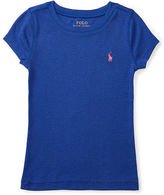 Ralph Lauren 2-6X Cotton-Blend Short-Sleeve Tee