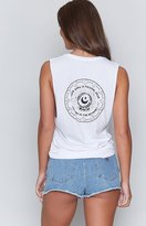 Beginning Boutique Your Aura Is Pulsing Dear Tank White