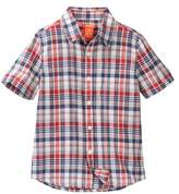 Joe Fresh Short Sleeve Plaid Top (Little Boys & Big Boys)
