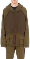 Haider Ackermann Military Oversized Cotton-jersey Hoody