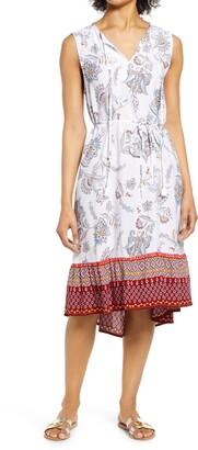 BeachLunchLounge Lou Lou Belted Sleeveless Shift Dress