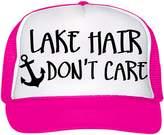 Custom Apparel R Us Lake Hair Don't Care Trucker Snapback Baseball Cap Vacation Boating