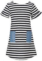 Copper Key Little Girls 4-6X Striped Chambray-Pocket Dress