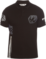 McQ by Alexander McQueen Swallow-patch cotton polo shirt