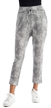 Bobeau B Collection by Pascale Printed Crop Brushed-Knit Cozy Pants