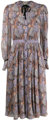 Temperley London Maggie tiger print dress