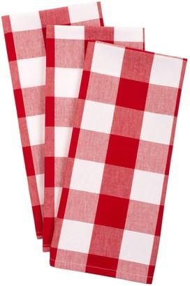 Design Imports Set of 3 Buffalo Check Kitchen Towels