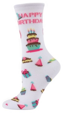 Me Moi MeMoi Happy Birthday Women's Novelty Socks