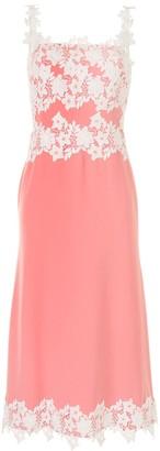 Lela Rose Lace-Detail Sleeveless Midi Dress