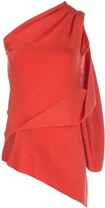 Monse One-Shoulder Draped Top