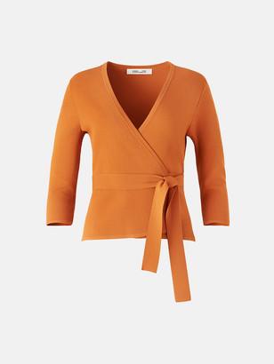 Diane von Furstenberg Landon Stretch-Milano Knit Wrap Top