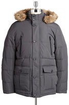 William Rast Hooded Faux Fur-Trimmed Parka
