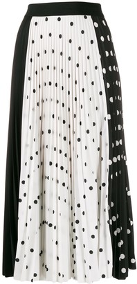 Escada Sport Polka-Dot Pleated Skirt